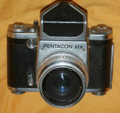A Vintage Pentacon Six Tl Camera With Carl Zeiss 80Mm 2.8 Lens