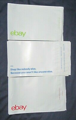 "eBay-Branded Polymailer Red, Green & Blue 8.5"" x 6.25"" (No Padding) - 25's (A)"