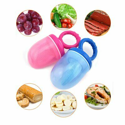 Baby Dummy Feeding Nibbles Weaning Nutrition Pacifier Fresh Fruit Food Feeder