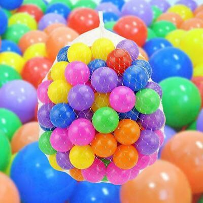 100 x Multi-Color Kids Baby Child Soft Play Fan Balls Toy for Ball Pit Swim Pool