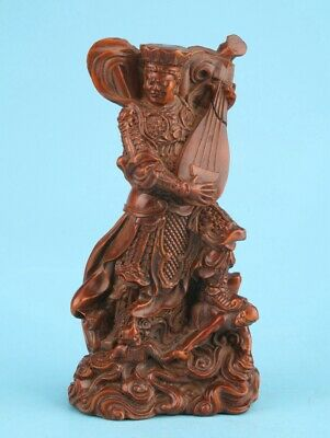 Unique Chinese Boxwood Hand-Carved Immortal Statue Spiritual Gift Collection