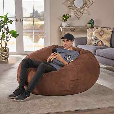 Fine 8 Foot Lounger Bean Bag Chair Faux Suede 8 Lounge Beanbags Machost Co Dining Chair Design Ideas Machostcouk
