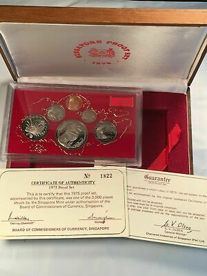 1975 Singapore 6 Coin Proof Set with Original Case & Box Lot#B332 #1822/3000