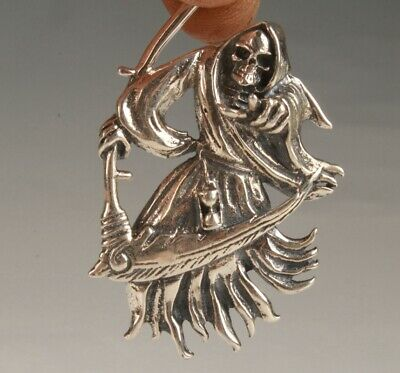 Preciou China 925 Silver Pendant Statue Ghost Face Exorcist Mascot Collection