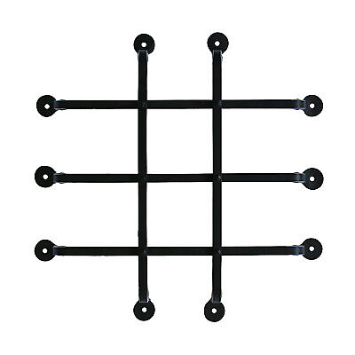 Wrought Iron Speakeasy Door Window Prohibition Grate or Grill in Hand Made 6 Bar