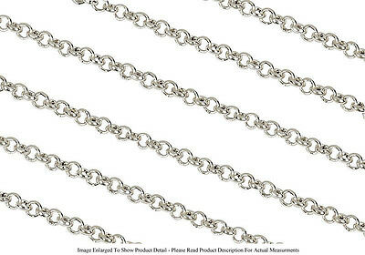Sterling Silver Plated 2.5mm Round Rolo Chain Jewelry Necklace Sold by the Foot