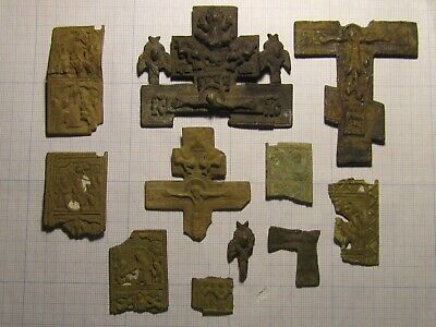 Large fragments of ancient crosses of the 17-18th century. lot № 21