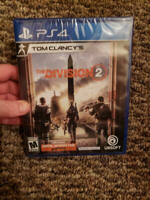 TOM CLANCY'S THE DIVISION 2 PS4 PLAYSTATION 4 -Brand New & Sealed! FAST SHIPPING