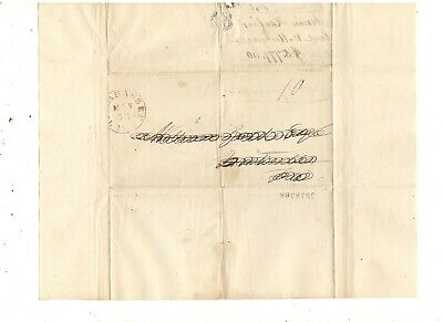 1845 Stampless Folded Cover, Tallahassee, Florida