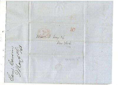1851 Stampless Folded Letter, Apalachicola, Fl, Ref: Cotton To Southport