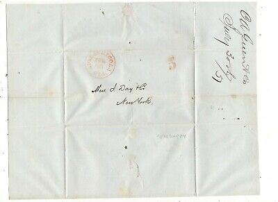 1851 Stampless Folded Letter, Apalachicola, Fl, Ref: Ship To New Orleans