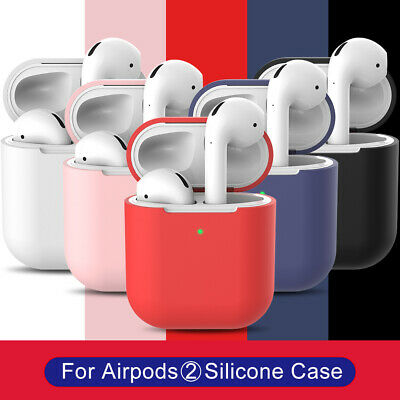 Bluetooth Wireless Headphones Charging Case Soft Cover Skin For Apple Airpods 2