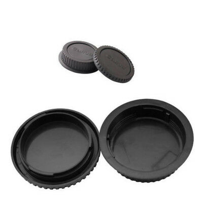 Rear Lens Cover + Camera Body Front Lens Caps for Canon EOS EF DSLR SLR Lens