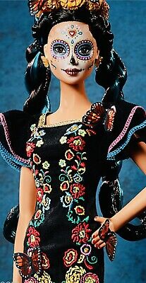 BARBIE Dia De Los Muertos Day of The Dead Mexican Doll Black Label READY TO SHIP