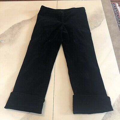 Patrizia Pepe Velour Cropped Pants Made In Italy Size 42 IT/size 6 US
