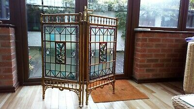Leaded antique stained glass Screen