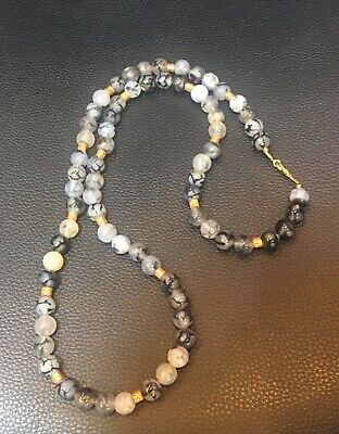 Afghanistan agate stone original necklace gold plated handmade very beautiful ne