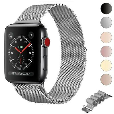 Milanese Loop pulsera correa de acero inoxidable para Apple Watch Band Series 5