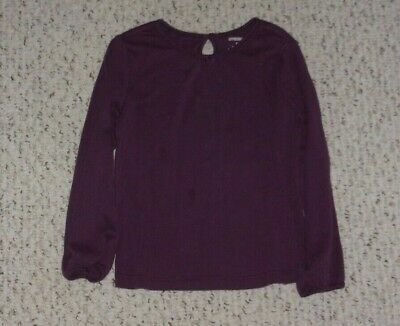 Plum Gymboree L/S Top, Fall Forest, Size 5T, GUC