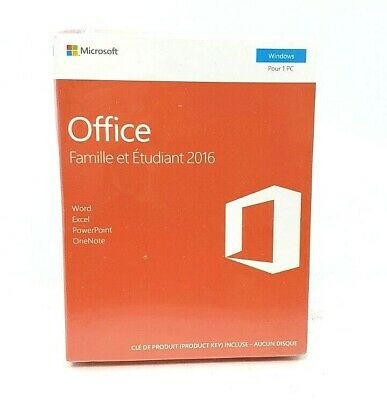 Microsoft Office Home & Student 2016 French for PC 1 PC KEY™