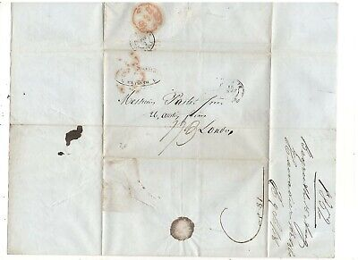 1852 Stampless Folded Letter, To London