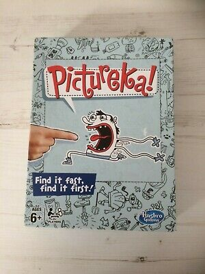 Pictureka! Board Game Hasbro Family Fun, Picture Hunt, Party game Complete