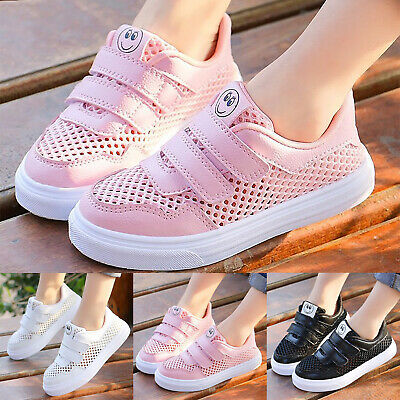 Kids Boys Girls Children Mesh Sports Shoes Running Trainers Breathable Sneakers