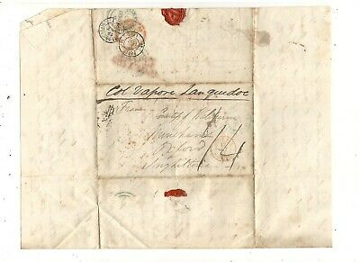 1852 Stampless Folded Letter To Oxford.