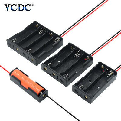 3.7V 18650 Battery Storage Case Holder Box DIY With Wire Leads 1/2/3/4 Slots 76