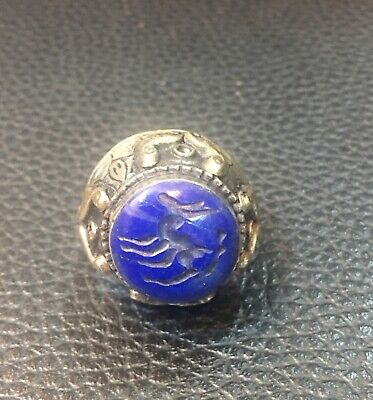 Afghanistan lapis lazuli stone old ring very beautiful original antique ring Old