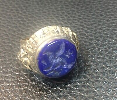Afghanistan lapis lazuli stone old ring very beautiful original antique ring Ant