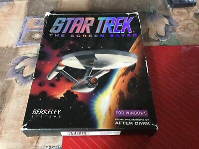 Star Trek THE SCREEN SAVER Vintage 1992 PC Software Poster Berkeley Systems