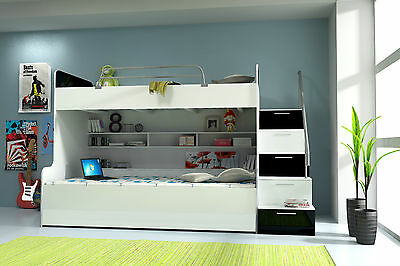 """Bunk Bed """" High Gloss """" Children Loft Bed Bunk Bed Bed Immediate - Colour Choice"""