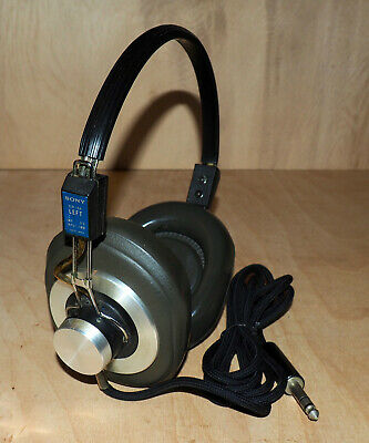 Vintage SONY DR-6A STEREO HEADPHONES - TESTED!