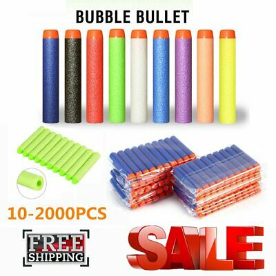 2000pcs Soft Darts Round Head Bullets Blasters For Toy Guns 7.2*1.3cm 10colors