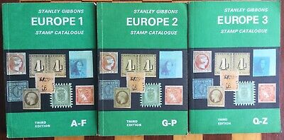 Stanley Gibbons Stamp Catalogue EUROPE 1, 2, & 3   1977, 3 Vols
