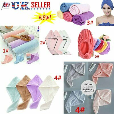 Rapid Fast Drying Hair Absorbent Towel Cap Soft Thick Shower Hat Hair Direr QD