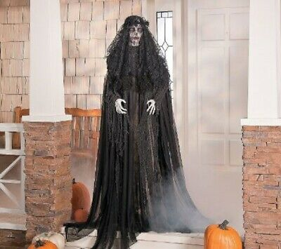 Halloween Props Decorations Life Size Animated Scary Ghost Widow Outdoor Yard