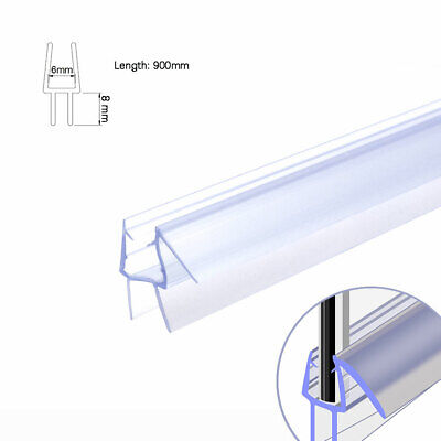 Bath Shower Screen Door Seal Strip for Glass Thickness 4mm 6mm Seal Gap 12mm