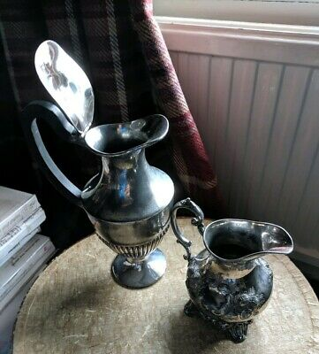 Vintage EPNS Silver Plated Coffee Pot and Cream Jug (not a set)