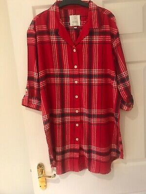 M/&S Womens Pure Brushed Cotton Nightshirt  8-20-16-14-22  Lounge Wear Rrp £20