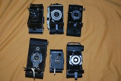 A Collection Of 6 X Vintage Folding Cameras #30