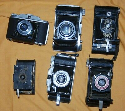 A Collection Of 6 X Vintage Folding Cameras #31