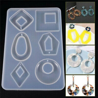 Silicone Earring Pendant Mold Dried Flower Jewelry Resin Mould Casting Craft DIY