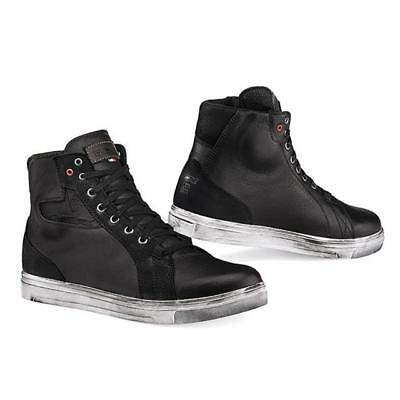Shoes Motorcycle Scooter TCX Street Ace Wp Suede Waterproof Black