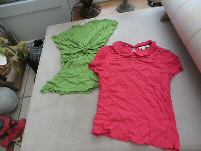 2 Boden quality ladies tops sleeveless   1 pink 1 green stretch stunning 10