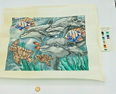 Hand Painted Needlepoint Pattern Susan Treglown Aquatic Life Ocean Whale Fish