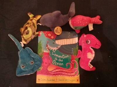 Teaching Story Resource Commotion in the Ocean Book & Soft Toys For Sack