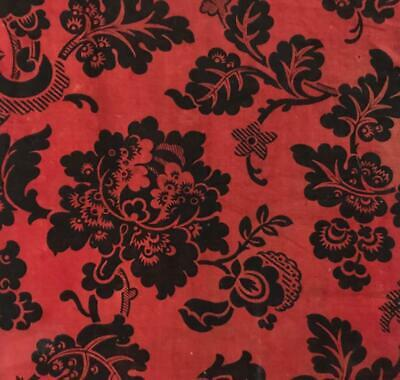 BEAUTIFUL 19th CENTURY FRENCH COTTON BLOCK PRINT INDIENNE 198