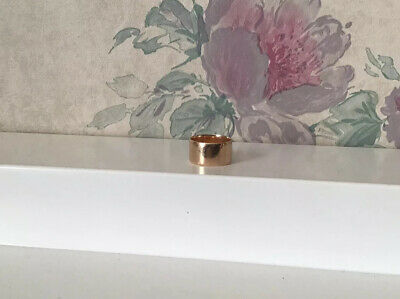 Antique Victorian Art Deco Solid Gold Cigar Wedding Band Ring - 5.5 Grams